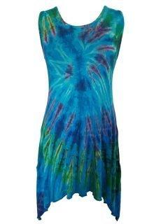 Tie dye tunic: Turquoise