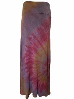 Tie dye long skirt – Dusty Purple