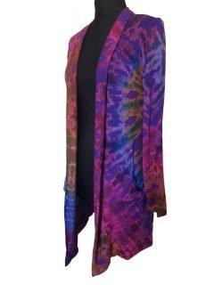 Tie dye Cardigan- Purple