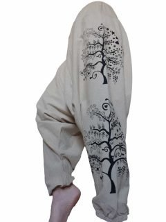 Tree of life harem trousers: White