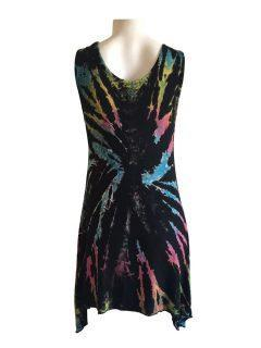Tie dye sleeveless tunic -Multi