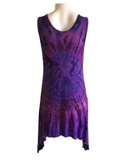 Tie dye tunic: Purple
