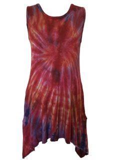 Tie dye tunic: Crimson