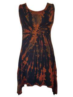 Tie dye tunic: Black and Orange