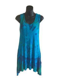 Tie dye tunic: Blue