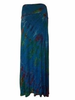 Tie dye long skirt- Teal
