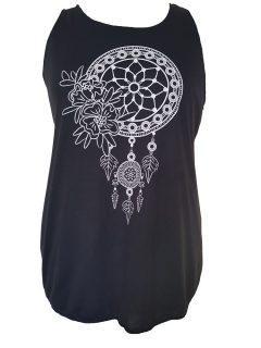 Black Vest top – Dream Catcher