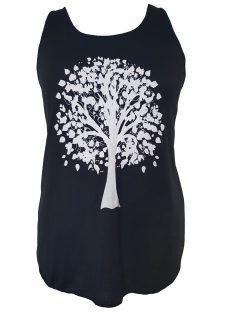 Black Vest top – Tree of life