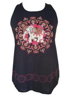 Black Vest top – Baby Elephant
