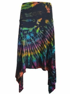 Tie dye winged skirt – Black