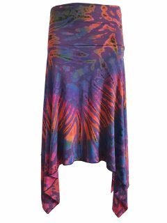 Tie dye winged skirt – Purple