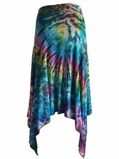 Tie dye winged skirt – Blue