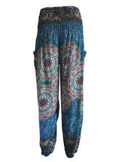 Ali baba trousers: Mandala – Teal