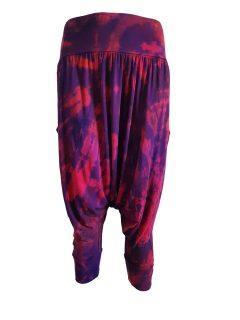 3/4 Tie dye harem trousers – Red