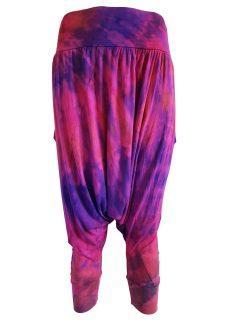 3/4 Tie dye harem trousers – Purple