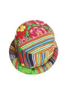 Round rimmed hat – multi coloured