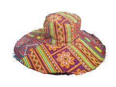 Wide Brim Hat – Multi colour