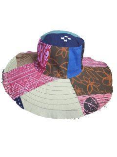 Wide Brim Hat – Patchwork