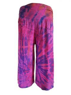 Tie dye shorts – Purple