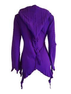 Fleece lined rib cut hoody – Purple
