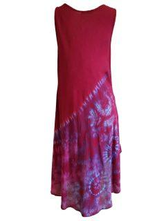 Asymmetric button dress – Red