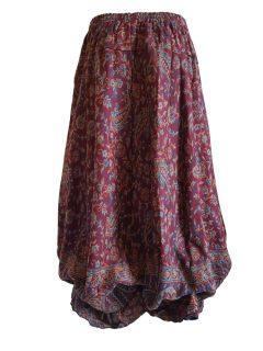 Cashmillon Skirt- Maroon paisley