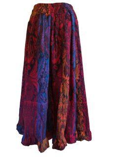 Cashmillon Skirt- Red leaf print