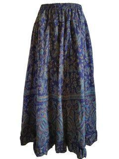 Cashmillon Skirt- Royal Blue paisley