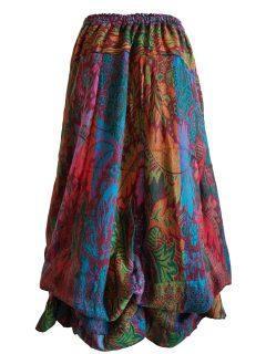 Cashmillon Skirt- Multi leaf print