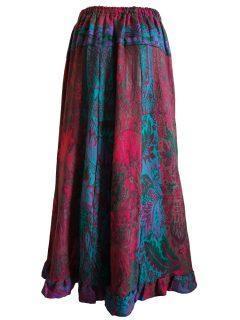 Cashmillon Skirt- Green leaf print
