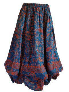 Cashmillon Skirt- Teal paisley
