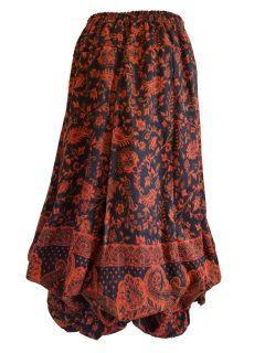 Cashmillon Skirt- Orange paisley