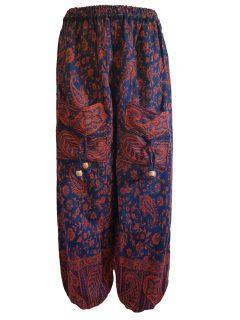 Cashmillon trousers- Teal paisley