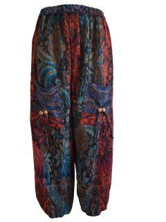 Cashmillon trousers- Red leaf print