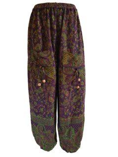 Cashmillon trousers- Purple paisley