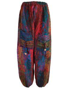 Cashmillon trousers- Multi leaf print