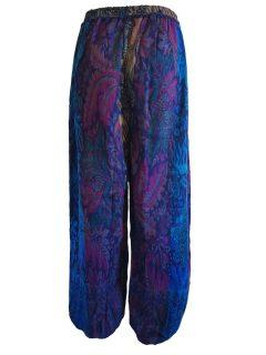 Cashmillon trousers- Blue leaf print
