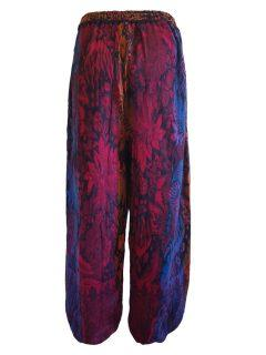 Cashmillon trousers- Teal leaf print