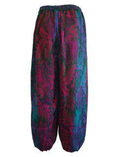 Cashmillon trousers- Green leaf print