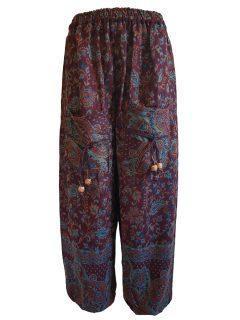 Cashmillon trousers- Maroon paisley