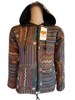 Fully lined cotton jacket – Brown