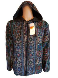 Fully lined cotton jacket – Blue