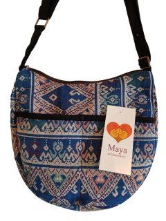 Cotton shoulder bag – Blue