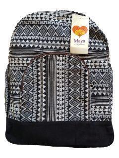 Cotton backpack – Black
