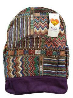 Cotton backpack – Purple