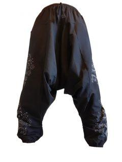 Tree of life harem trousers: Black