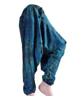 Shyama Tie dye harem trousers: Teal