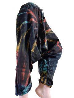 Shyama Cotton Tie dye harem trousers: Black