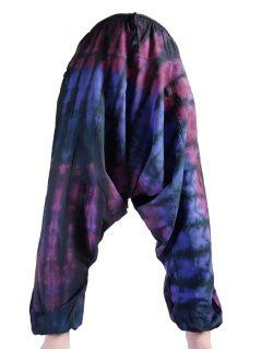 Shayma Tie dye harem trousers: Purple