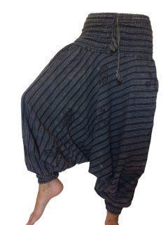 Stonewash Print Harem trousers: Black